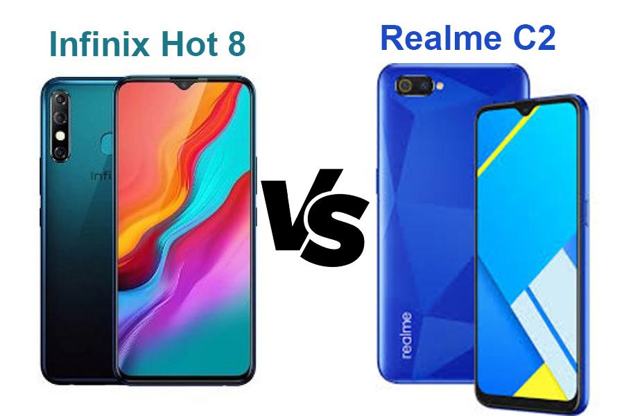 Infinix Hot 8 atau Realme C2