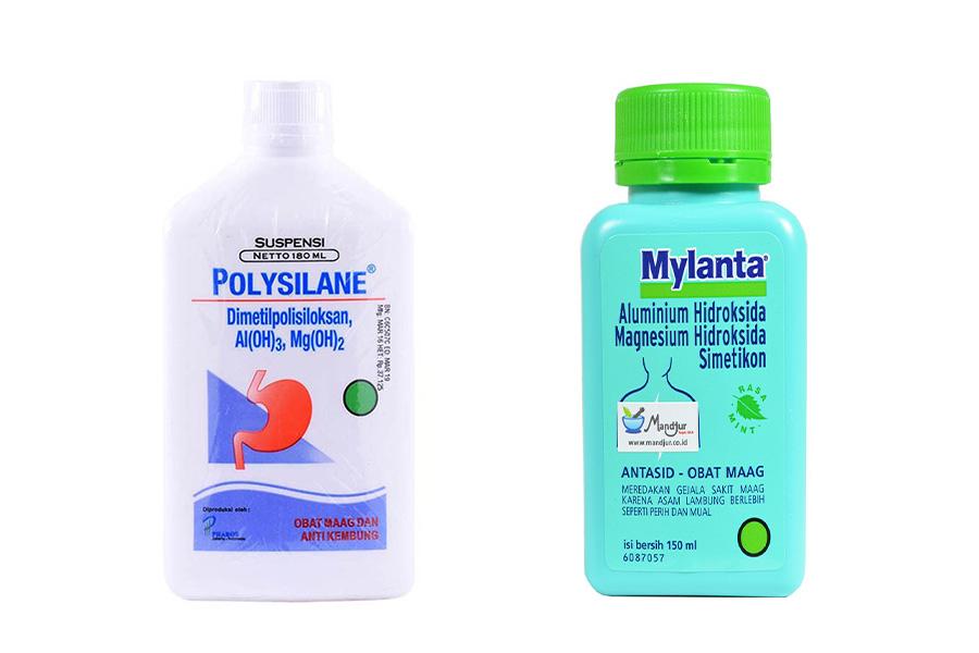 Polysilane vs Mylanta