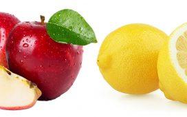 Cuka Apel vs Cuka Lemon