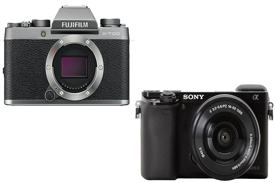 Fujifilm X-T100 atau Sony A6000
