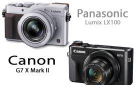 Panasonic Lumix LX100 vs Canon G7 X Mark II