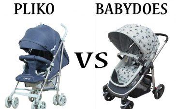 Stroller Pliko vs Babydoes