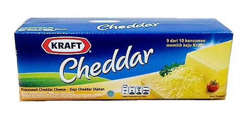 Keju Cheddar Anchor vs Kraft