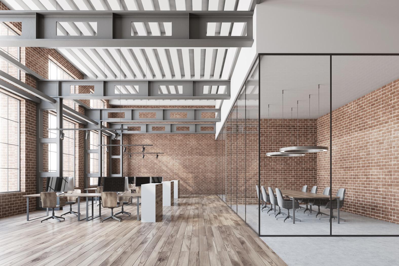Office Interior Design Industrial Terbaik