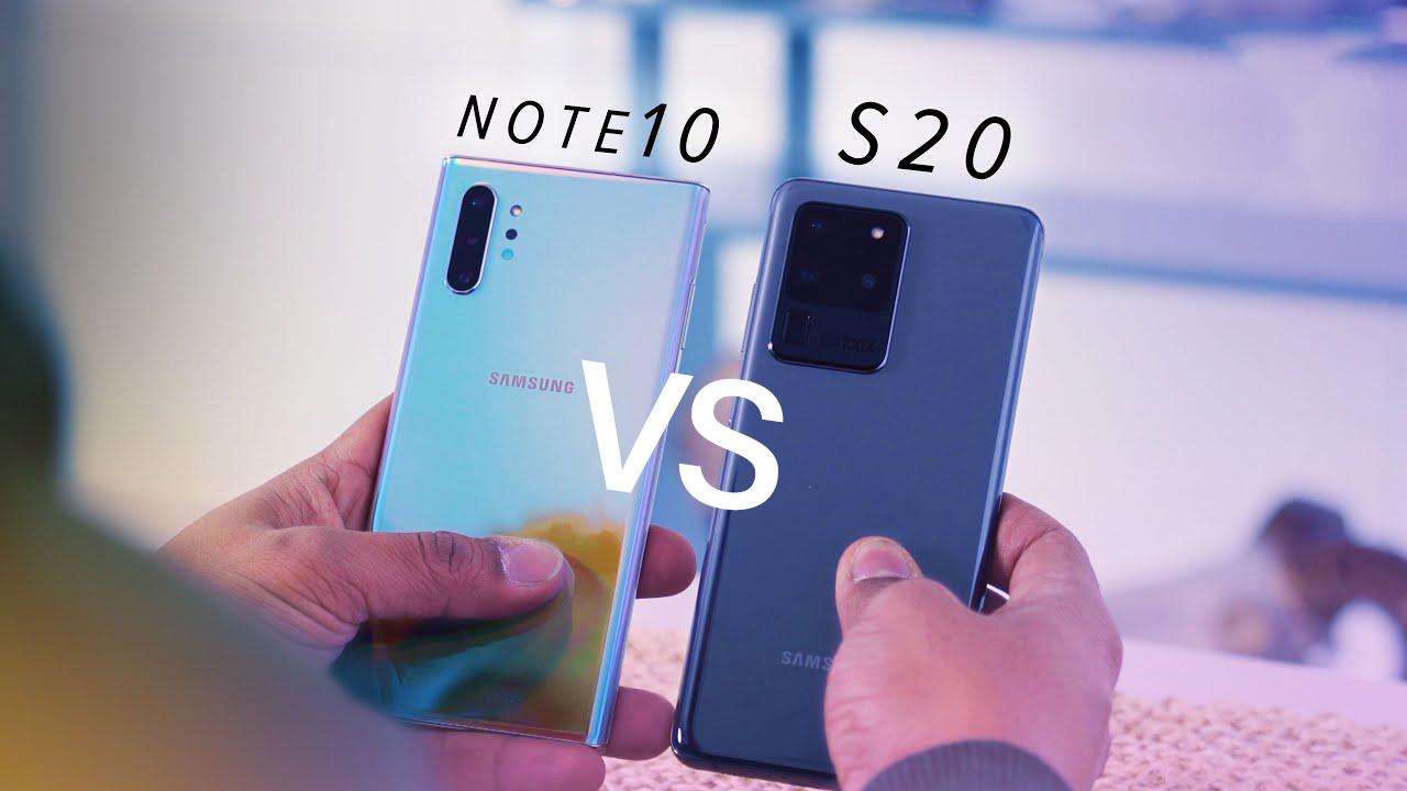 Samsung Galaxy S20 vs Note 10