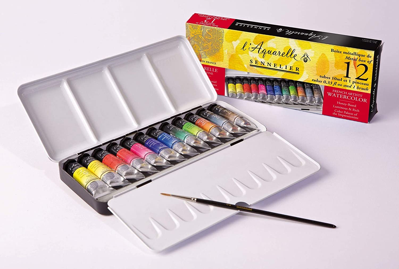 Watercolor Pans vs Watercolor Tubes