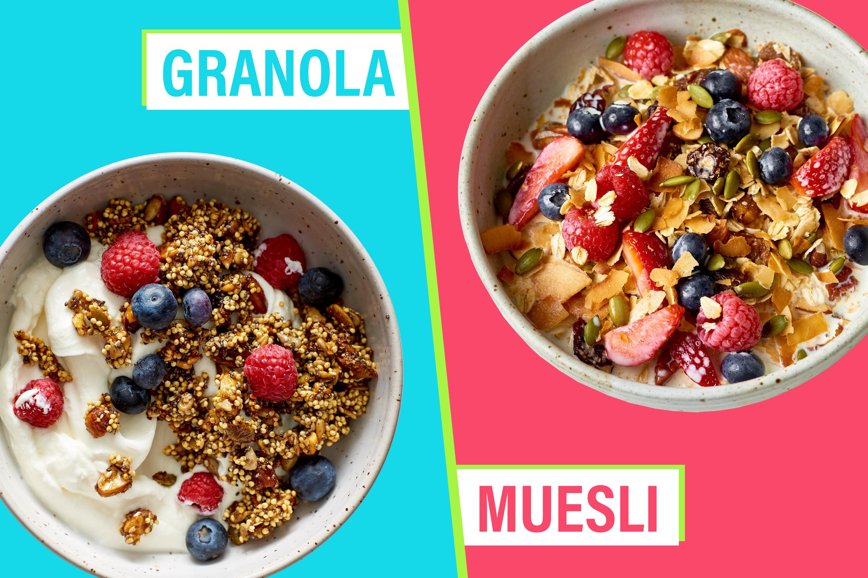 Granola vs Muesli